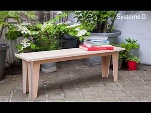 Fabriquer Un Banc D Interieur : fabriquer un banc en bois youtube ~ Melissatoandfro.com Idées de Décoration