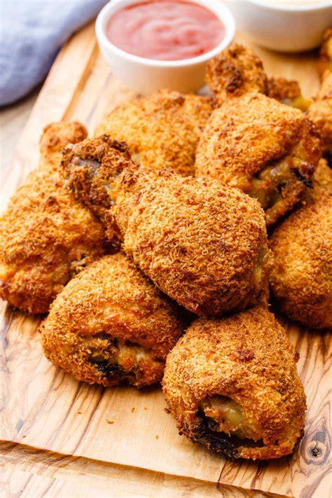 fried chicken crispy air recipes fryer recipe wings paleo ever thighs guilt drumsticks paleogrubs frying grubs way drumstick fries food