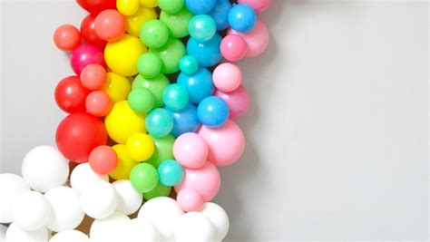 rainbow balloon arch martha stewart
