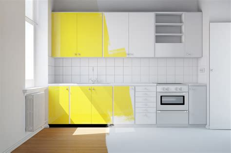 repeindre les meubles de cuisine la peinture d un meuble de cuisine