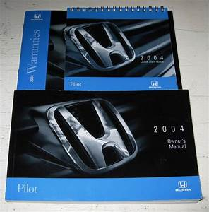2004 Honda Pilot Owners Manual Guide 04 Set