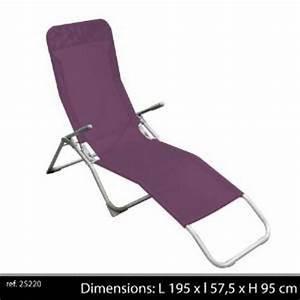 Chaise Longue Pliante : chaise longue pliante avec poignee transat de jardin bain ~ Melissatoandfro.com Idées de Décoration
