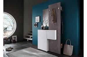Meuble D Entrée Pas Cher : meuble d 39 entr e design blanc et b ton cbc meubles ~ Teatrodelosmanantiales.com Idées de Décoration