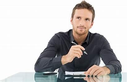 Sole Proprietorship Company Thinking Person Office Businessman