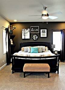 Wall decor for master bedroom : Best dark grey walls ideas on