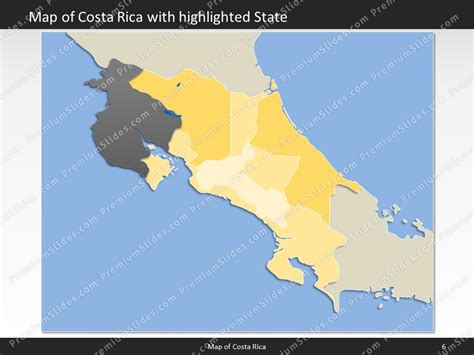 Costa Rica Map Template by Costa Rica Map Editable Map Of Costa Rica For Powerpoint