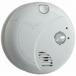 Brk 9120b Photo Smoke Alarm With Escape Light  120 Volt Ac