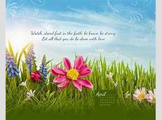 April 2015 1 Corinthians 161314 Desktop Calendar Free