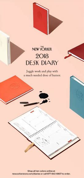 new yorker desk diary 2018 a moose in the hoose material goods the new yorker diary
