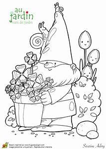 Jardin Dessin Couleur : dessin nain de jardin couleur nain de dessin anim ~ Melissatoandfro.com Idées de Décoration