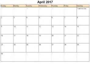 Excel Monthly Work Schedule Template April 2017 Calendar Excel Yearly Calendar Printable