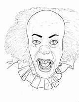 Clown Killer Coloring Printable Scary Getcolorings Getdrawings sketch template
