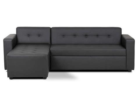 capitonner un canap canapé d 39 angle convertible 4 places pedro coloris noir en