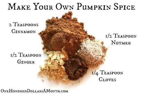 Ingredients For Pumpkin Pie Mix by Diy Pumpkin Pie Spice Recipe One Hundred Dollars A Month