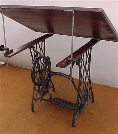 turn  sewing machine base   drafting table