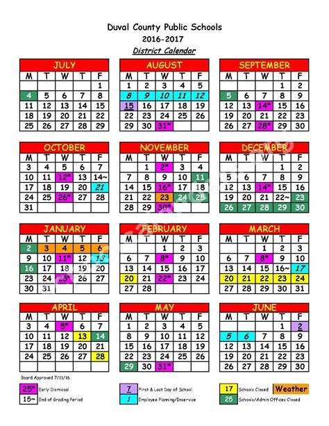 district calendar duval county public schools qualads