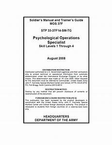 Restricted U S  Army Psychological Operations Specialist