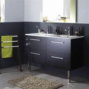 meuble double vasque salle de bain meubles double With salle de bain design avec meuble double vasque noir