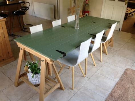 kitchen table and 6 scandinavian style chairs for sale in