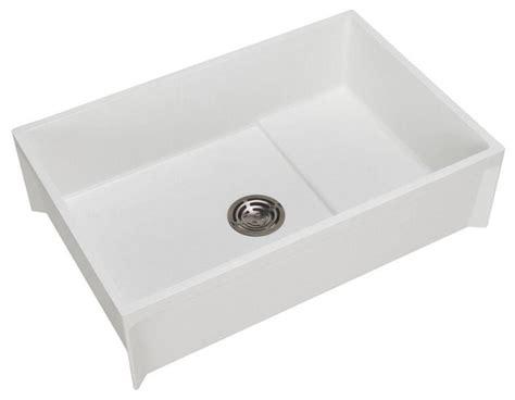mustee mop sink 24 x 36 shop houzz fiat modesto 24 quot x36 quot molded floor mount