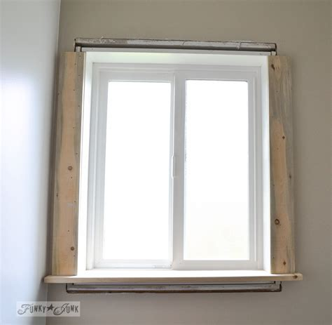 Window Casings And Sills by How To Make A Farmhouse Window With Mouldingfunky Junk