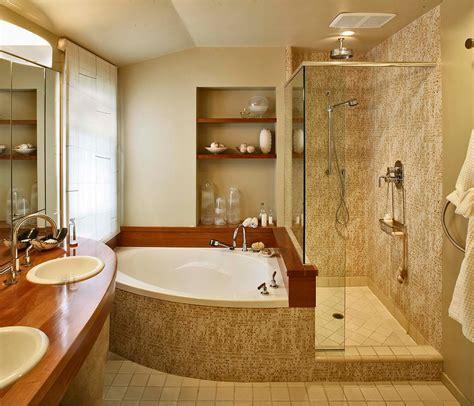 river rock shower corner bathtub shower bathroom contemporary with none