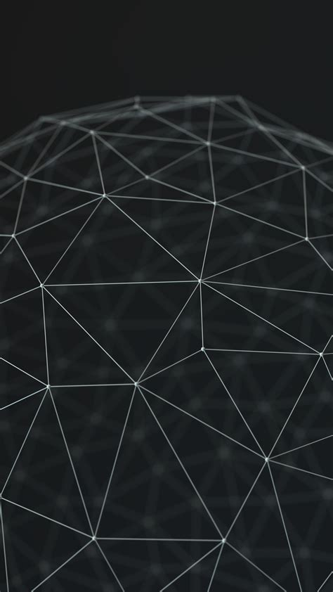abstract polygons connected gray android wallpaper