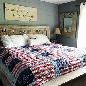 Patriotic, Bedroom, Decor, Ideas, Love, The, Farmhouse, Bedroom