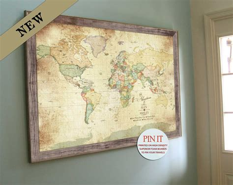 push pin map canvas diy framed map with pins hamonious at besttabletfor me