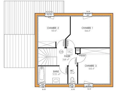 plan de maison gratuit 3 chambres plan maison 80m2 avec 3 chambres