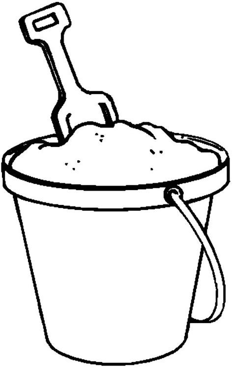 Kleurplaat Strandemmer by Fill With Sand Coloring Pages Best Place To