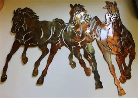 The wall art fills your space with artsy, cute, and often aesthetic vibes that will make the space more. Running Free Western 3 Horses Metal Wall Art Decor