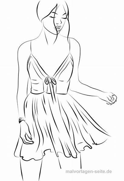 Coloring Malvorlagen Tanzen Malvorlage Kleid Painting