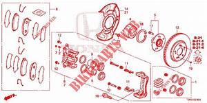 Front Brake  1  For Honda Cars Cr