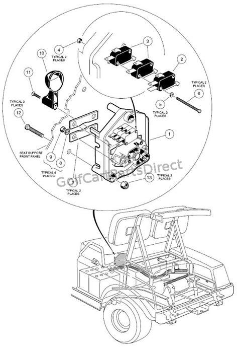 Club Car Forward Switch Wiring Diagram 48 Volt Battery by Forward Switch 48v Golfcartpartsdirect