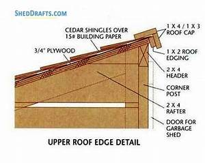 3 U00d76 Lean To Firewood Shed Plans Blueprints For Storage Area