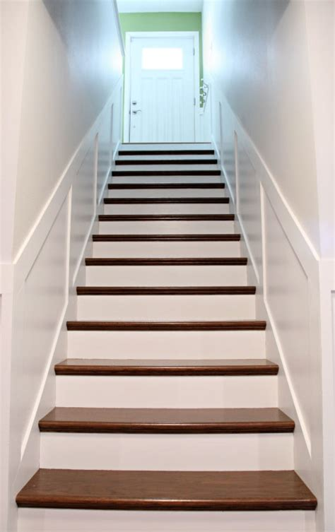 home depot wood stairs how to add tread and new risers to a staircase stair kit from home depot minwax wood stain in