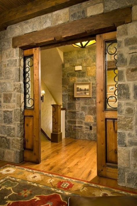 wood pocket barn doors   decorative