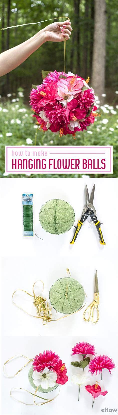 how to make hanging flower balls girls room flower