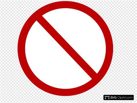 Red No Circle Svg Vector Red No Circle Clip Art Svg Clipart