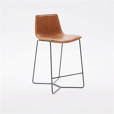 counter stools leather slope leather bar counter stools west elm australia 2678