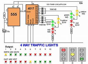 4 Way Traffic Lights Circuit Circuit Diagram World