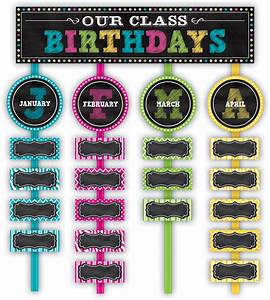 Chalkboard Brights Our Class Birthdays Mini Bulletin Board - TCR5506 Teacher Created Resources