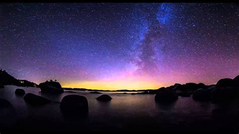 4k Resolution Time Lapse Of The Milky Way Over Lake Tahoe
