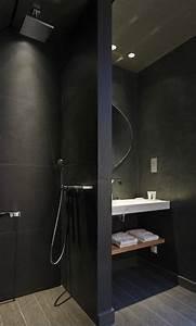 stilvolle und mutige badgestaltung in schwarz für kleine
