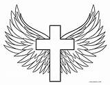 Coloring Cross Pages Wings Jesus Printable Drawing Rocks Crosses Sheets Angel Flowers Adult Tattoo Sketch Cool2bkids Rose Books Graffiti Christianity sketch template