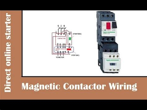 how to wire magnetic contactor relay dol