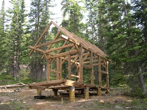 cabin building building a small timber frame cabin pieces of timber