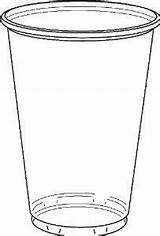Cup Clear Plastic Cups Sketch Coloring Template Container Credit Larger Pet Lid sketch template