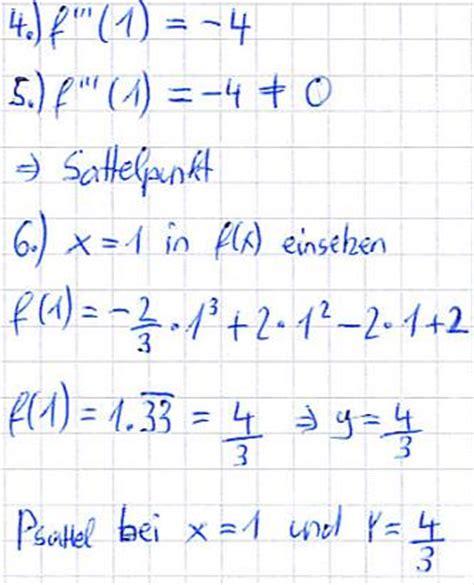 sattelpunkt berechnen
